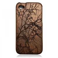 Wood iPhone 4 / 4s Case - Hand Carved Tree