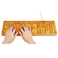 Natural bamboo keyboard
