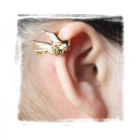 Golden Bird Ear Cuff