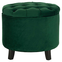 One Kings Lane - Ready, Set, Glamour - Arabella Storage Ottoman, Emerald