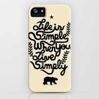 Life is simple iPhone Case | Print Shop