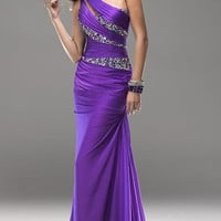 2013 Sexy One Shoulder Evening Dresses Beaded Party Formal Prom Ballgown*Custom