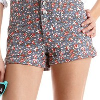 Hot Kiss High Waisted Floral Short: Charlotte Russe