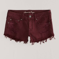 AE Destroyed Colored Denim Shortie | American Eagle Outfitters