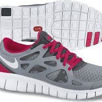 Amazon.com: NIKE FREE RUN+ 2 WOMENS 443816-016 (9.5, STEALTH/WHITE-ANTHRACITE-SOLAR RED): Shoes