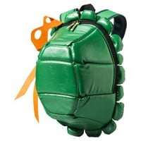Men's TMNT Turtle Backpack with Colored Masks - Green