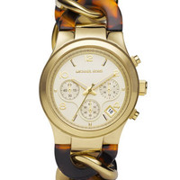 Michael Kors Chain-Link Watch, Tortoise - Michael Kors