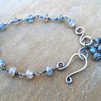 Labradorite Bracelet Wire Wrapped Sterling Silver by ZorroPlateado