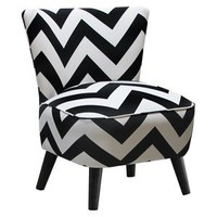Mid Century Modern Chair Zig Zag - Black/White