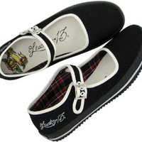 Lucky 13 Tattooed Mary Flats - Shoes - Women's - Grease, Gas and Glory