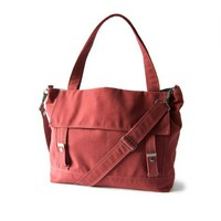 Supermarket: The Letter Bag in rosewood with an adjustable strap from Moop
