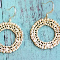 Supermarket: Gold Crochet Earrings from Diament Jewelry
