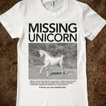 Missing Unicorn (Junior) - Wrecked Tees