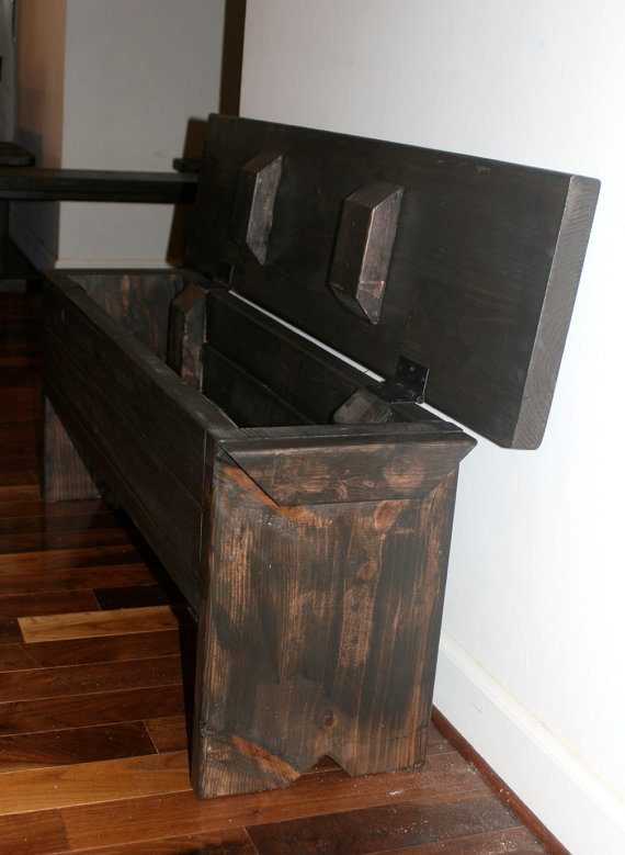 4 Foot Narrow Trunk Bench With From Modernrust On Etsy For