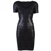Amazon.com: Wiipu Women's sexy Bodycon Sheath Dress Foil Print Dress(wiipu-384): Clothing