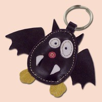 Cute little purple bat keychain by snis on Etsy