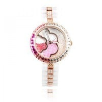 Swarovski Rhinestone Flower Watch — accessoryinlove