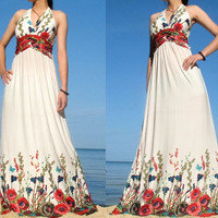 Elegant Maxi Dress Romance Long Dress Evening Dress by myuniverse