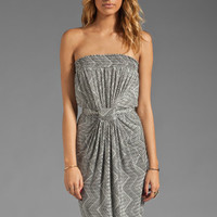 T-Bags LosAngeles Strapless Maxi Dress in Black/White from REVOLVEclothing.com