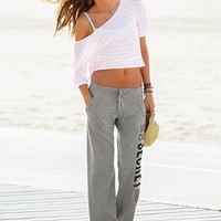 Graphic Fleece Boyfriend Pant