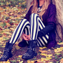 Vertical Striped Jail Leggings