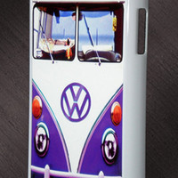 Samsung Galaxy Note 2 Vintage Purple Kawaii Mini Bus VW Case Hard Cover Case Galaxy Note 2