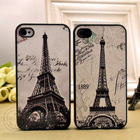 Bestgoods — Retro Eiffel Tower Hard Cover Case For Iphone 4/4s