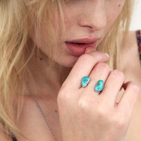 Rejoice The Hands Turquoise Orbit Ring