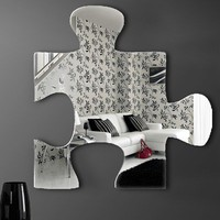 "Graham & Brown Acrylic Shaped Mirror - Jigsaw  Mirror - 16"" X 16"""