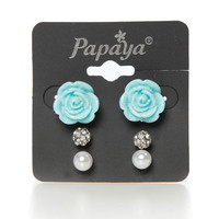 Papaya Clothing Online :: ROSETTE STUD SET