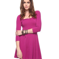 Short Curve Stitch Dress | FOREVER21 - 2000033166