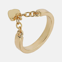Topshop &#x27;Heart Chain&#x27; Ring | Nordstrom