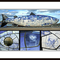 Big Blue Fish 8x12 inch (20x30 cm) Street Art Fine Art Photography - Home decor - Gift Idea - PhotoByMADA