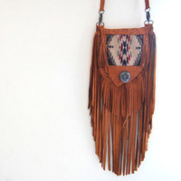 Pendleton Elk Hide Fringe Bag  Beyond Buckskin Boutique