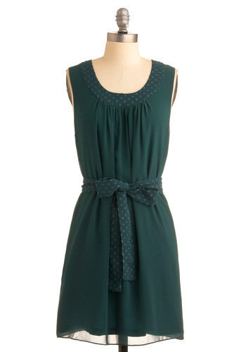 Greeny Bopper Dress | Mod Retro Vintage Solid Dresses | ModCloth.com