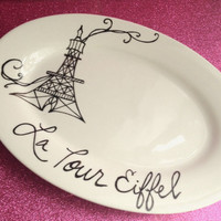 Ultra Chic Paris Serving Dish ohhh lala by parischicboutique