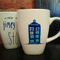 Doctor Who - Tardis Blue coffee or tea mug with quote