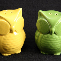 Citrus Shades Owl Salt & Pepper Shakers
