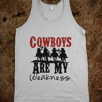 Cowboys are my weakness-Unisex Silver Tank