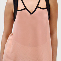 Cut Out Tank in Blush | New Age Queen