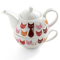 Get in Fe-line Tea Set | Mod Retro Vintage Kitchen | ModCloth.com