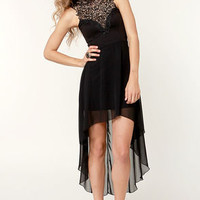 Enchants Encounter Black Lace Dress
