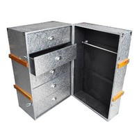 ACHICA | Chaandhi Kar Silver Embossed Luggage Trunk