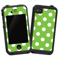 "Amazon.com: White Polka Dot on Lime ""Protective Decal Skin"" for LifeProof 4/4S Case: Electronics"