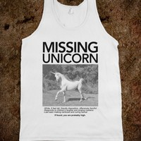 Missing Unicorn (Tank) - Wrecked Tees