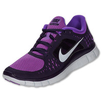 Nike Free run 3 womens running shoe purple silver 510643-505 BNIB Authentic
