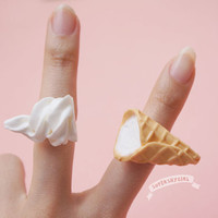 Ice Cream Rings Set kawaii funny food jewelry
