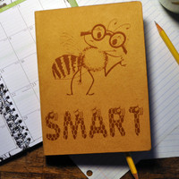 Bee Smart, Nature inspired, Custom  Personal Journal,  Blank  note book, Book, Journal