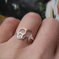 Cute 925 Sterling Silver Elephant Ring  accessoryinlove