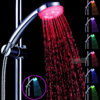 No battery Water Saving  7 Colors LED Flash Light Bathroom Hand Held Shower Head
